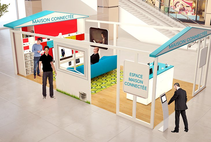 Objets connectés : communication IN & OUT store