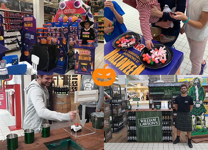 Zoom sur les activations d'Halloween de Strada Marketing