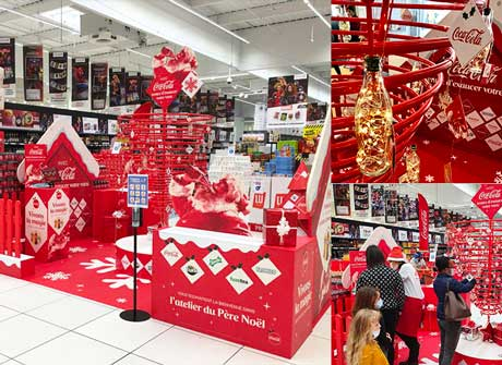 Événement Christmas en magasin Coca-Cola by Strada