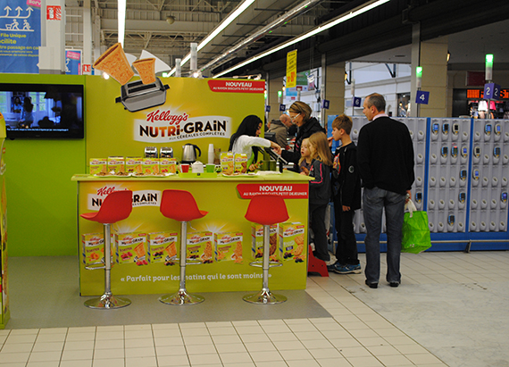 animation magasin nutri grain marketing in store strada marketing. Black Bedroom Furniture Sets. Home Design Ideas