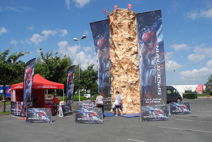 Road show Spiderman chez Toys'R'Us